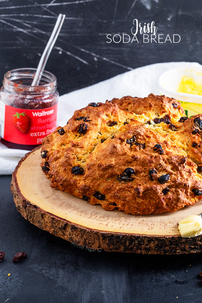 This Irish Soda Bread is so easy to make, yet tastes utterly divine. You'll find it hard not to devour the whole loaf of this soft, flavourful quick bread!