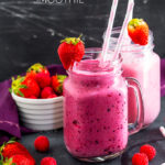 This Mixed Berry and Vanilla Smoothie is the perfect post workout pick me up or quick lunch. Fruity and sweet, it's a favourite in my house that I make almost every day!