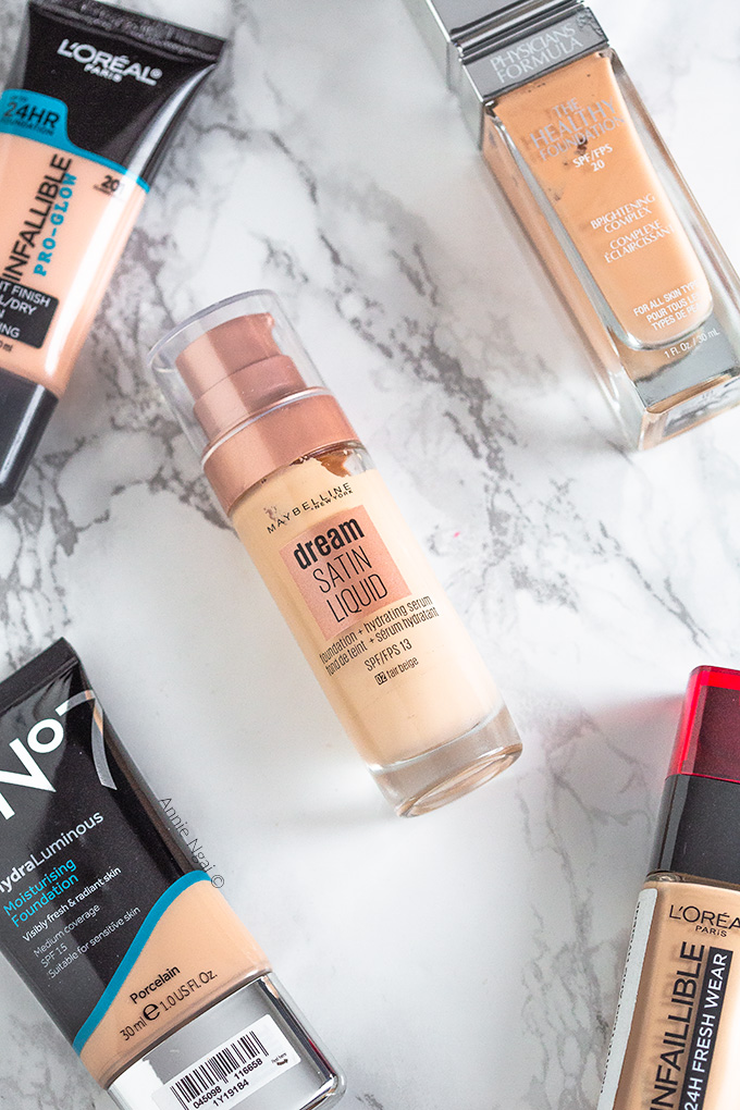 Top 5 Drugstore Foundations | Annie's Noms