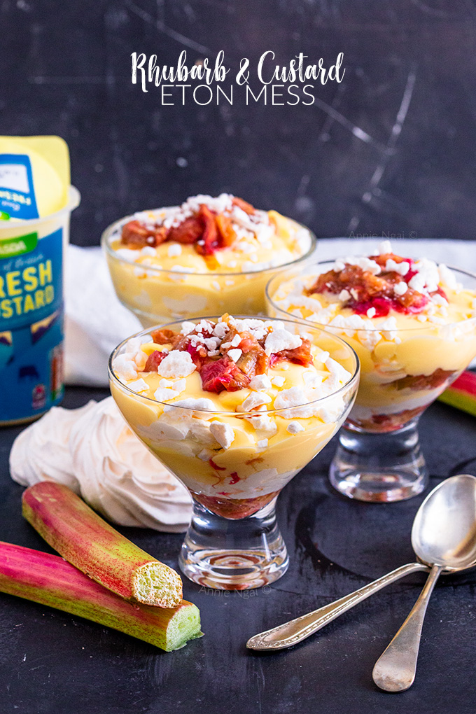 This Rhubarb and Custard Eton Mess recipe is super quick and easy to make and is a delicious twist on the classic Eton Mess. Just perfect for Summer!