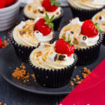 These Strawberry S'mores Cupcakes marry together a biscuit base, rich chocolate cupcake a homemade compote filling and marshmallow frosting to create an indulgent, delicious treat!