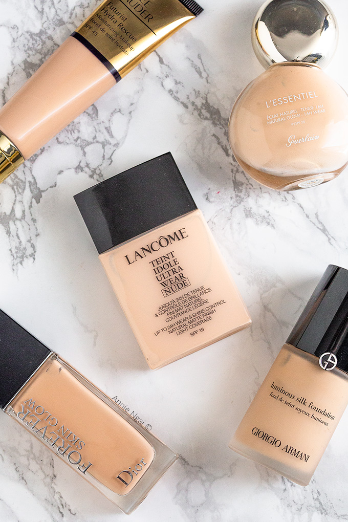 Top 5 High End Foundations | Annie's Noms