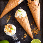 This Key Lime Pie Ice Cream takes all the flavours of a Key Lime Pie and marries them together with a no churn ice cream base. So easy to make and delicious!