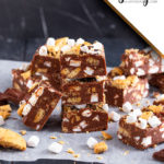 This S'mores Fudge is so easy to make and requires no candy thermometer! You only need a few simple ingredients to make this divine fudge that is bound to disappear super fast!