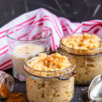 This Eggnog Rice Pudding is the perfect way to use up leftover eggnog and make a rich, delicious festive treat! Plus, it couldn't be easier to make!