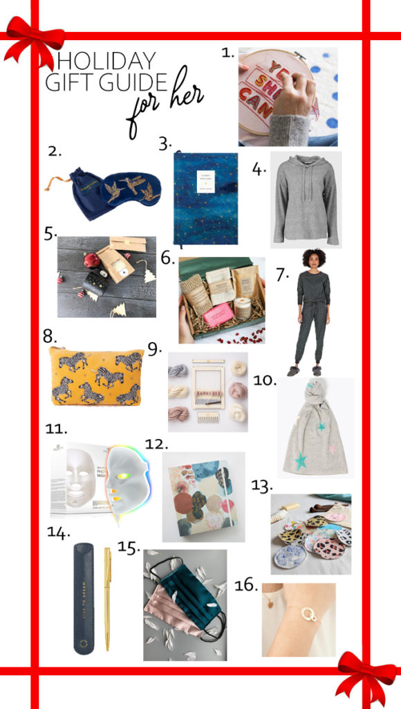 Today it's time for my Holiday Gift Guide For Her! From self care to new hobbies, I've tried to find a range of different gifts the women in your life will love! #giftguide #giftideas #giftsforher #christmasgifts #holidaygiftguide
