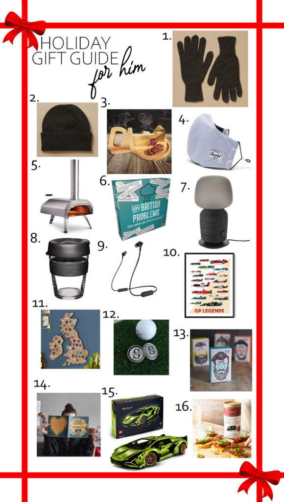 I'm sharing my Holiday Gift Guide for Him today! Do you find it almost impossible to buy for the men in your life? Me too! Which is why I've spent hours trying to find the best gifts for them!
