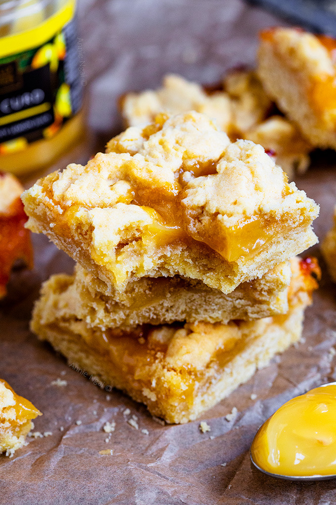 These super easy to make Lemon Curd Crumble Bars only require a few ingredients, yet taste utterly divine. They are the perfect balance of sweet and tart with plenty of flavour!