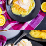 This super easy Lemon Self Saucing Pudding is just perfect for Spring. Light lemon sponge atop a zesty lemon sauce. Served warm or cold, it's pure bliss in every bite!