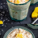 These Pineapple Coconut Overnight Oats are creamy, filling and full of flavour. Desiccated coconut, coconut milk and chunks of pineapple make this one seriously delicious way to start the day!